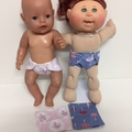 Dolls Nappies and Wipes