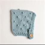 bobble bonnet - mint | popcorn bonnet baby hat | toddler hat | wool beanie |