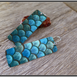 DRAGONSCALE, DYE SUBLIMATION GRAPHIC PRINTED EARRINGS
