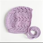 Lace knit bonnet - orchid | baby hat | toddler hat | wool beanie | purple bonnet