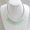 Green Crystal Crochet Bib Necklace Handmade OOAK  by Top Shelf Jewellery