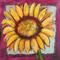 Bright Yellow Sunflower Print