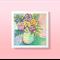 "Bright Floral Wall Art Flower Print - 8 x 8"""