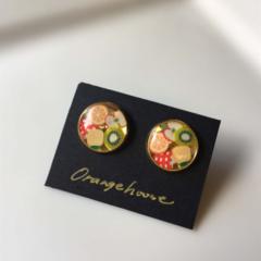 Free Postage! Fruits salad Resin Earrings