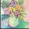 "Bright Floral Wall Art Flower Print - 5 x 5"""