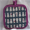 Cat Pot Holder Purple Trim
