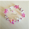 SALE 20% Bracelet - Pink Rose,Clear -