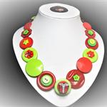 Beaut Buttons - Christmas Cheer button necklace