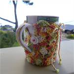 Mug cozy, coffee cosy, cup warmer | trendy multicolours | Christmas teacher gift