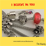 I BELIEVE IN YOU - keyring or bagcharm