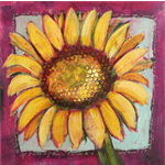 Bright Yellow Sunflower Print