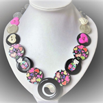 Turning Japanese button necklace