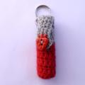Organic Lip Balm crochet cover + key ring | Christmas, birthday or teacher gift