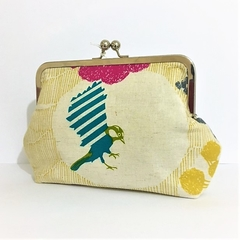 Birdie bag linen blend fabric.