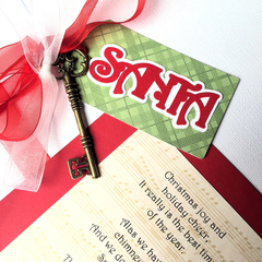 Magic Santa Key. Gift idea, handmade gift tag. Secret Christmas Key, no chimney