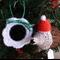 2 Christmas echidnas + Santa hats tree decoration; teacher gift, stocking filler