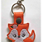 Set of 3 Key Rings/ Key Fobs - Koala, Fox, Raccoon