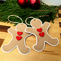 Gingerbread man gift tags - Christmas tags. Embossed gingerbread man shapes.