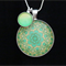Green Mandala ~Silver Plate Pendant
