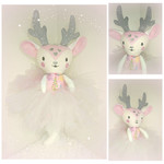 Pink Reindeer Soft Doll/ Soft Toy - Large Size