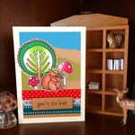 'You're the best' Cute Woodland Squirrel handmade C6 card