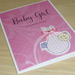 Baby Girl Card - cute baby girl!