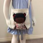 My Teeny-Tiny Doll®️ Amelia & Carry-Me Bag Set - Handmade Fabric, Rag Doll