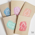 Watercolour Bird Design - A6 Journal Notebook - 100% recycled