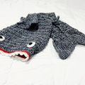 Shark Tail Blanket, Crochet Shirt Tail Blanket