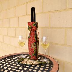Poinsettia wine bag, BYO drink tote