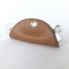 Cordelia Cord Wrap: Two-tone Tan with Slate leather