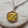 FREE POST One of a kind hand painted alcohol ink wearable art pendant