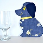 Dog mug rug, pet coaster