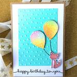 Happy Birthday Fox & Balloons Cute Handmade C6 card