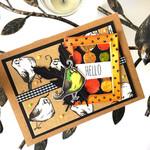 Quirky Bird 'Hello' Mixed media large handmade card