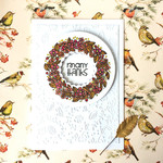 'Many Thanks' Autumn Wreath Thank You Handmade C6 Card