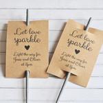 Let Love Sparkle, Personalised Sparkler Sleeve, Sparkler Tags