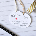 With Love Personalised Wedding Favor Tag, Wedding Gift Tag,