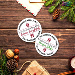 Elf Sticker Labels - Labels for Packaging Christmas Round Workshop  Stickers -