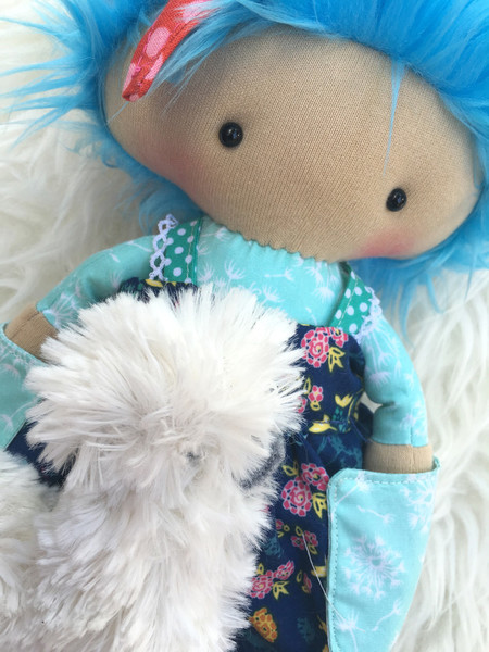 Merry and Boo - One of a Kind Clucky Lily doll and silkie chicken