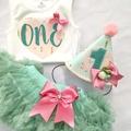Girls 1st Birthday Party Hat , 'One' onesie and Pettiskirt Tutu