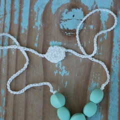 New Mother Gift Mint Crochet Necklace Gift for your Bestie Baby Shower Gift