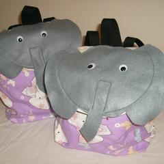 Backpack - Jigsaw, Elephant, Cow, Zipper, Chalkboard, Tiger