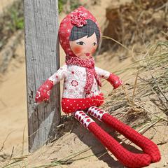 Miss Katie Cuddles, soft doll, 63cm tall