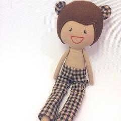 My Little Bear - Handmade Fabric, Rag Doll