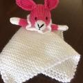 Bonita Bunny - Knitted baby blankie.