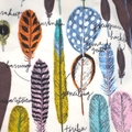 baby bib - feathers / organic cotton and hemp fleece