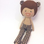 My Little Bear - Handmade Fabric, Rag Doll