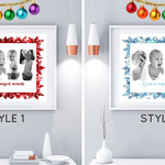 PERSONALISED FIRST CHRISTMAS BABY PHOTO COLLAGE 1ST CHRISTMAS KEEPSAKE