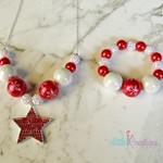 Christmas Necklace and Bracelet Set